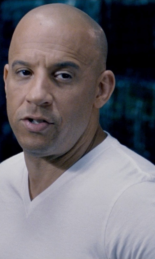Vin Diesel with 2xist Pima V-Neck T-Shirt in Fast & Furious 6