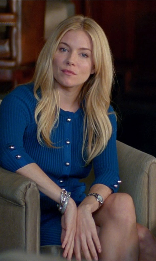 Sienna Miller with Matthew Williamson Silk Shirt Dress in Unfinished Business