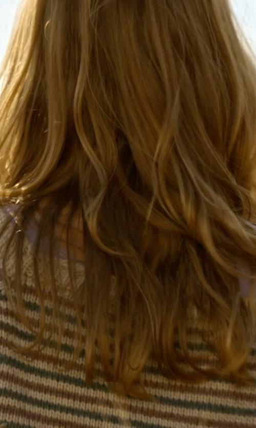 Britt Robertson with Getting Back to Square One Striped Sweater in Tomorrowland
