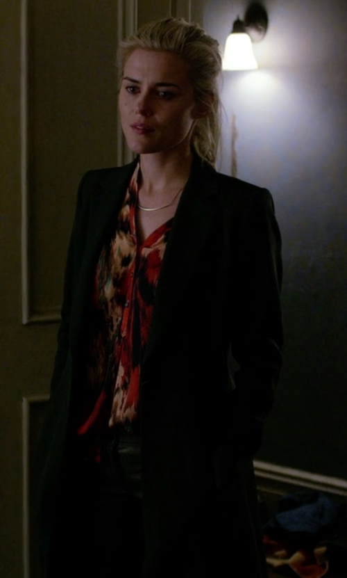 Rachael Taylor with Bassike Cashmere Coat in Jessica Jones