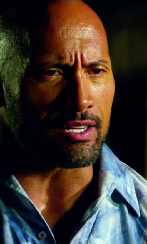 Dwayne Johnson with Margaritaville Men's Short Sleeve Notes Print Shirt in Pain & Gain
