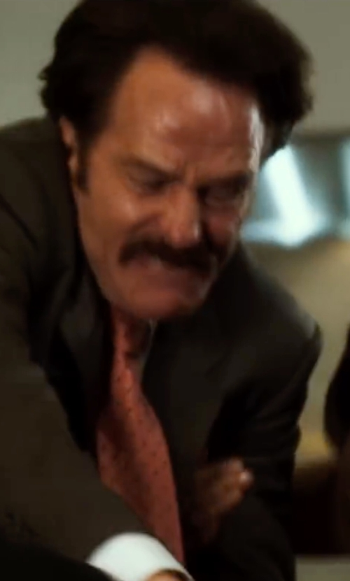 Bryan Cranston with Tommy Hilfiger Multi Dot Tie in The Infiltrator