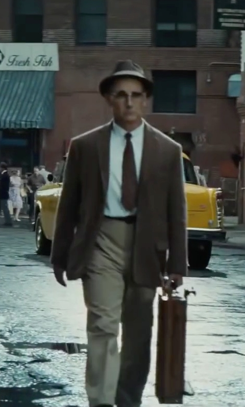 Mark Rylance with Jack Victor Conway Sport Coat - Textured Wool Stripe in Bridge of Spies