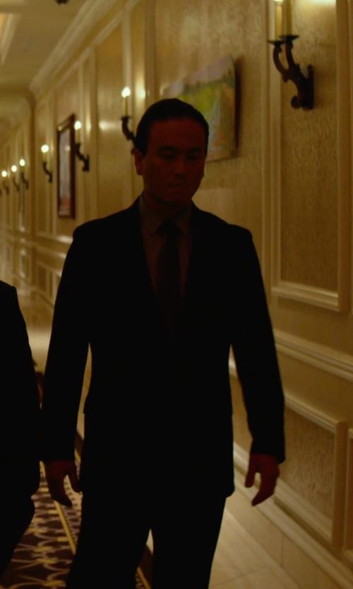 Steve Kim with Claiborne Elegant Solid Tie in Focus