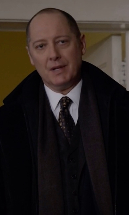 James Spader with Haggar Knit Scarf in The Blacklist