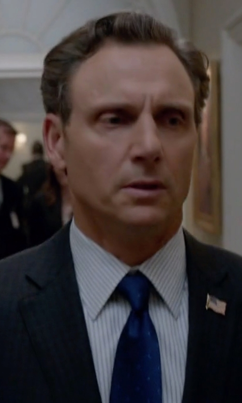 Tony Goldwyn with Lanvin Dot on Dot Classic Tie in Scandal