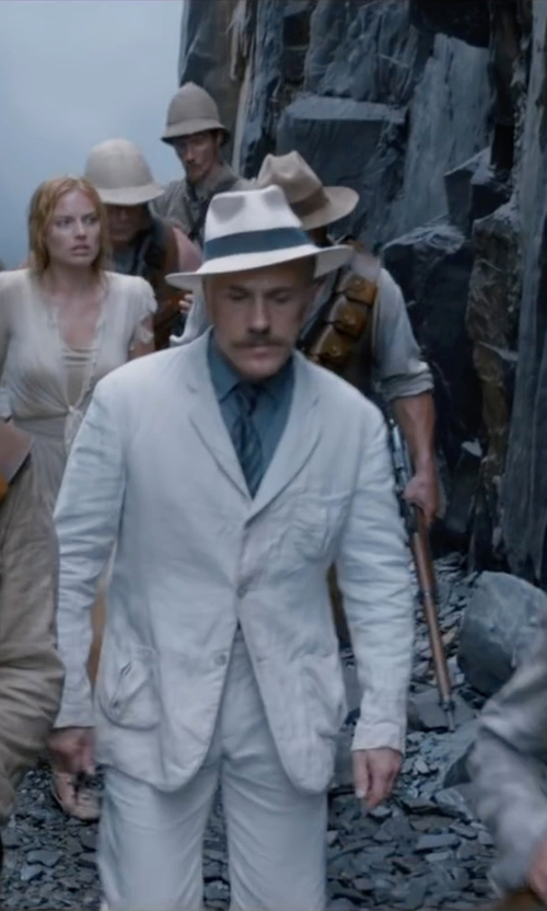 Christoph Waltz with Hugo Boss Silk Striped Tie in The Legend of Tarzan