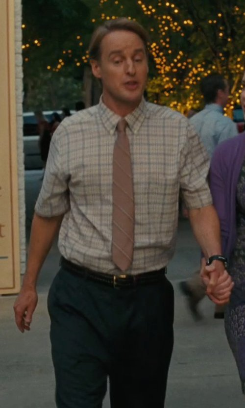 Owen Wilson with Louis Raphael Wool Dress Pants in Hall Pass