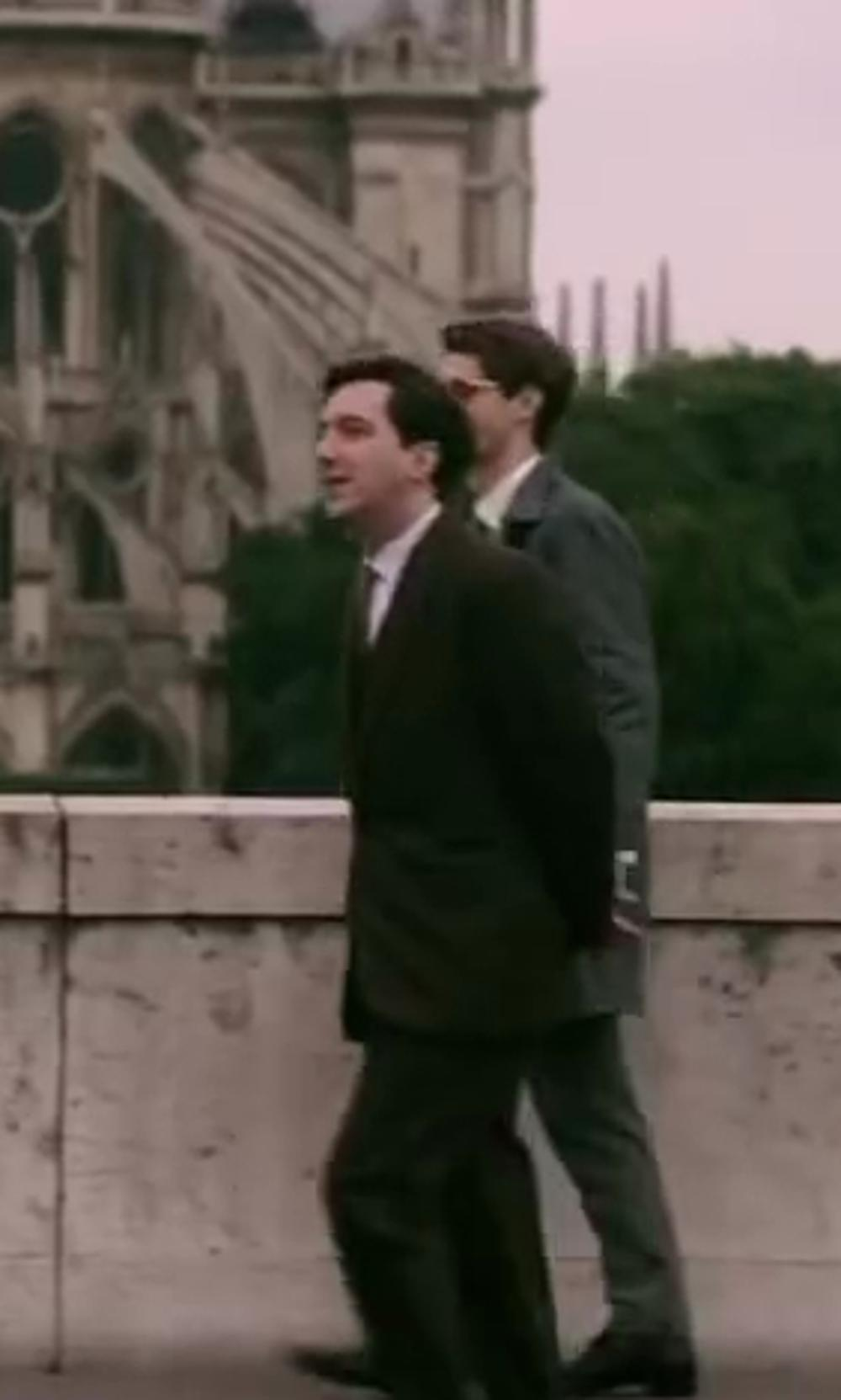 Guillaume Gallienne with Eton of Sweden Slim-Fit Solid Twill Dress Shirt in Yves Saint Laurent