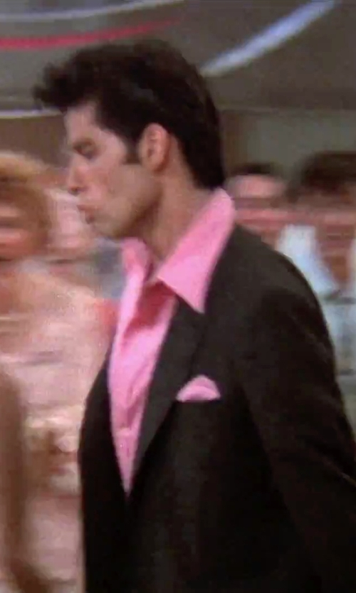John Travolta with Nordstrom Silk Twill Pocket Square in Grease