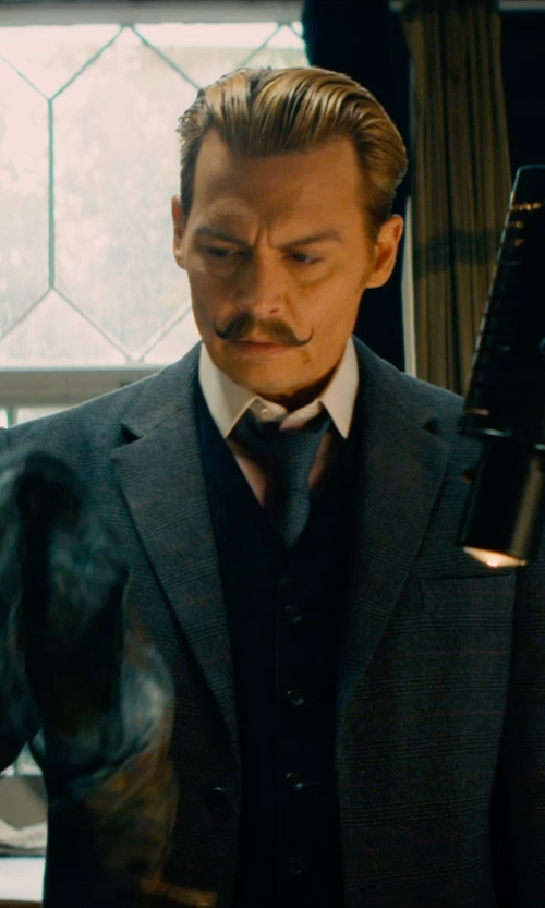 Johnny Depp with Dolce & Gabbana Classic Waistcoat in Mortdecai
