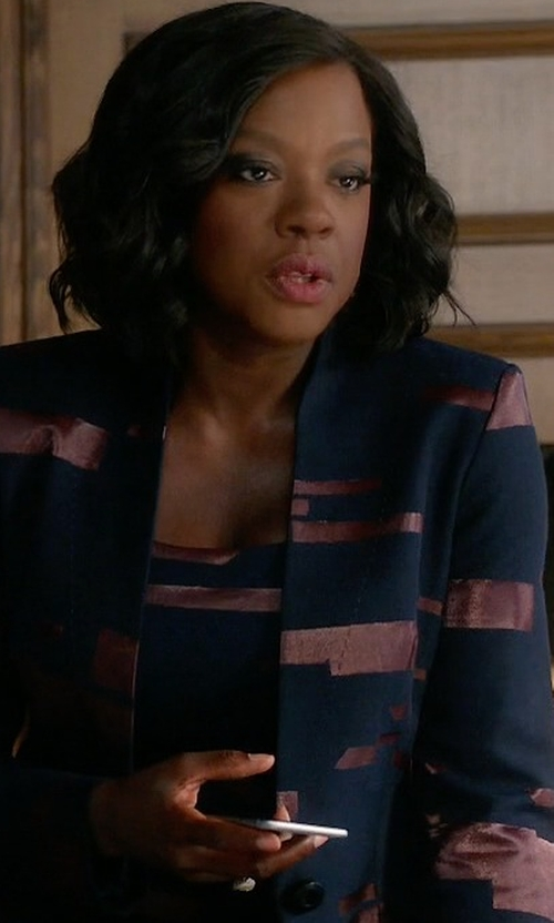 Viola Davis with Escada  Printed Fil Copupe Sheath Dress in How To Get Away With Murder