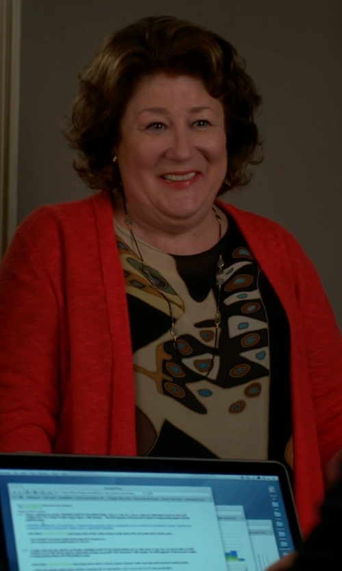 Margo Martindale with Neiman Marcus Cashmere Open-Front Cardigan Sweater in The Good Wife