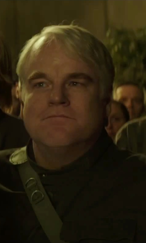 Philip Seymour Hoffman with Kurt and Bart (Costume Designer) Custom Made Men's Field Jacket (Plutarch Heavensbee) in The Hunger Games: Mockingjay - Part 2