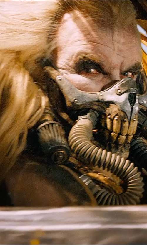 Hugh Keays-Byrne with Jenny Beavan (Costume Designer) Custom Made Skull Respirator Mask (Immortan Joe) in Mad Max: Fury Road