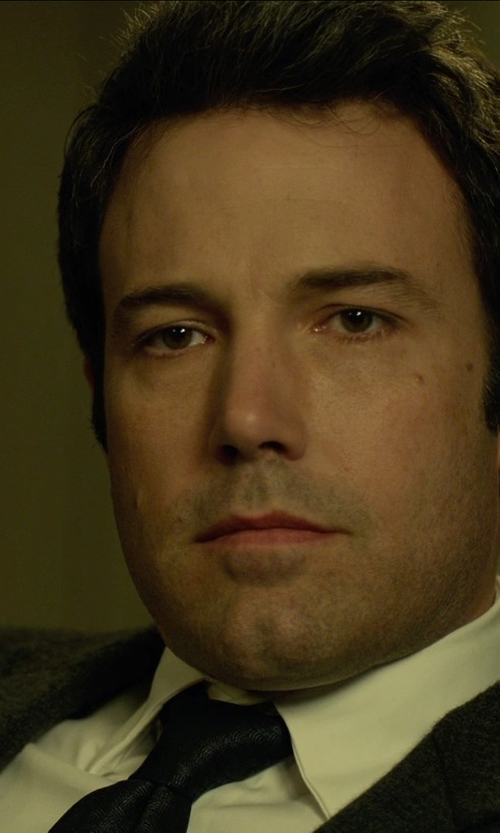 Ben Affleck with Armani Collezioni Basic Formal Shirt in Gone Girl