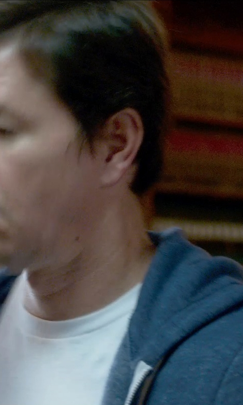 Mark Wahlberg with Original Penguin Triblend Zip Hoodie in Ted 2