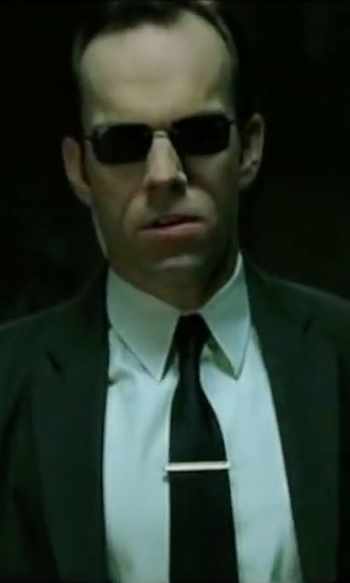 Hugo Weaving with Boss Hugo Boss 'Jordan' WW Slim Fit Tuxedo Shirt in The Matrix