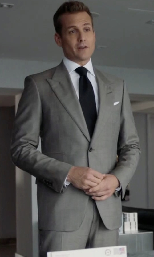 Gabriel Macht with Tom Ford O'Connor Base Sharkskin Two-Piece Suit in Suits