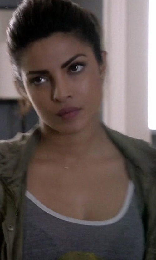 Priyanka Chopra with Nanan R.E.M Logo Tank Top in Quantico