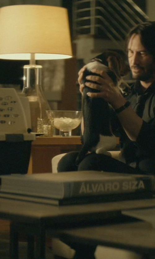Keanu Reeves with Horchow Quartz Table Lamp in John Wick