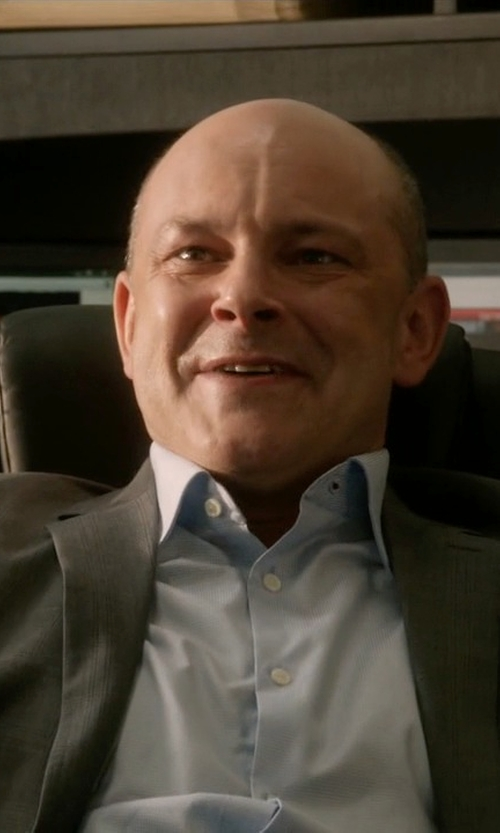 Rob Corddry with Dunhill Cotton Oxford Shirt in Ballers