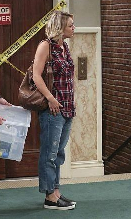 Kaley Cuoco-Sweeting with Old Navy Women's Faux-Leather Slip-Ons in The Big Bang Theory