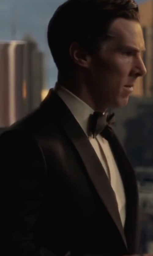 Benedict Cumberbatch with Lauren Ralph Lauren Classic-Fit Black Tuxedo Suit in Doctor Strange