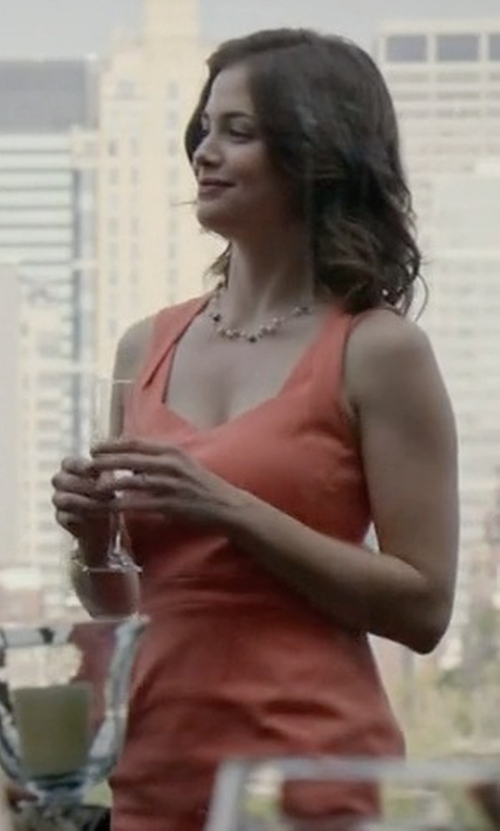 Conor Leslie with Pinko Skin Sleeveless Long Dress in The Blacklist