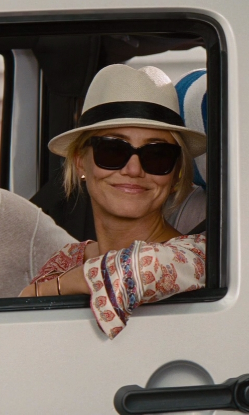 Cameron Diaz with Eugenia Kim Women's Straw Hat in The Other Woman