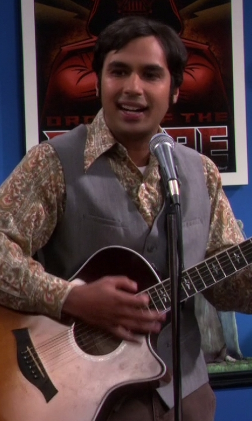 Kunal Nayyar with Express Micro Twill Suit Vest in The Big Bang Theory