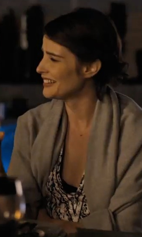 Cobie Smulders with TY-LR The Fall Knit Cardigan in Friends From College