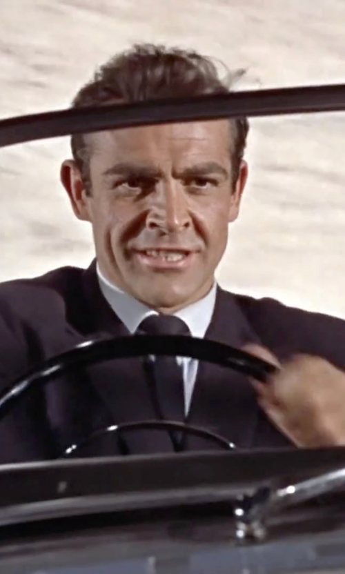 Sean Connery with Ann Demeulemeester Grise Classic Suit in Dr. No
