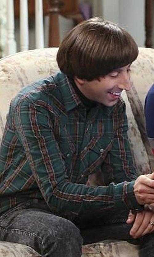 Simon Helberg with Urban Outfitters Salt Valley Carver Western Shirt in The Big Bang Theory