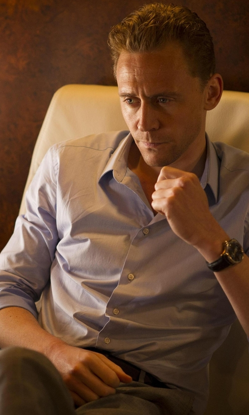 Tom Hiddleston with Pierre Balmain Solid Dress Shirt in The Night Manager