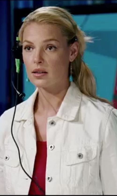 Katherine Heigl with Styles Boutique Cotton Denim Jacket in Knocked Up