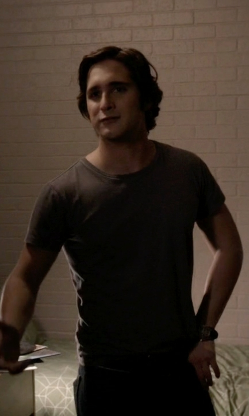 Diego Boneta with Wrangler Straight Leg Denim Pants in Scream Queens