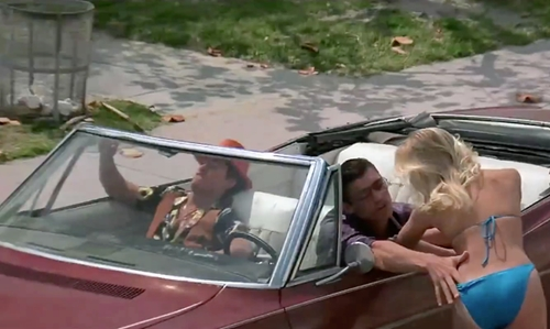 Steven Bauer with Chevrolet  1968 Impala Convertible in Scarface