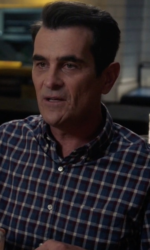 Ty Burrell with Ermenegildo Zegna Windowpane Long-Sleeve Sport Shirt in Modern Family