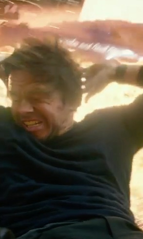 Mark Wahlberg with Breitling Cockpit B50 Night Mission Watch in Transformers: The Last Knight