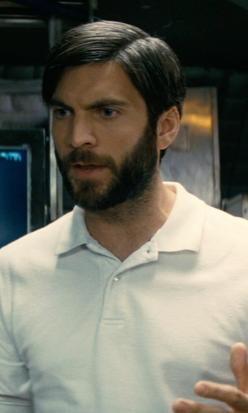 Wes Bentley with Theory Boyd Polo Shirt in Interstellar