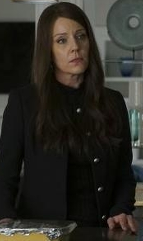 Andrea Parker with St. John Collection  Button-Front Jacket in Pretty Little Liars