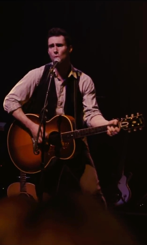 Adam Levine with Gibson Brad Paisley Signature J-45 Acoustic-Electric Guitar in Begin Again