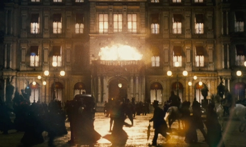 Unknown Actor with Waddesdon Manor (Depicted as Hotel Du Triomphe) Buckinghamshire, England in Sherlock Holmes: A Game of Shadows