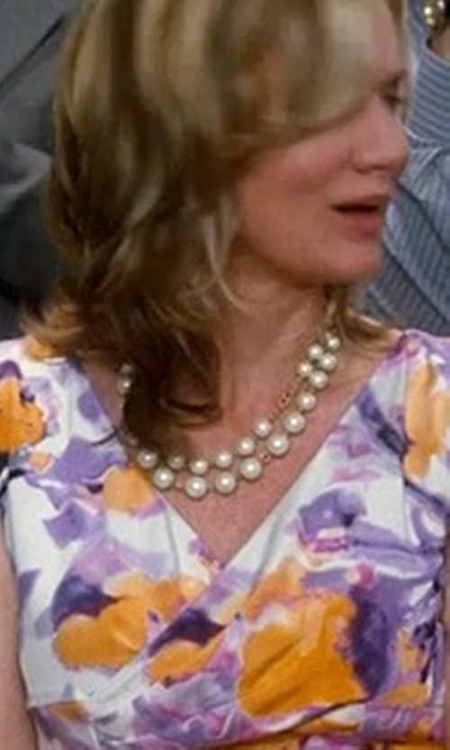 Beth Littleford with Alex Marie Sleeveless Floral Print V-Neck Dress in Crazy, Stupid, Love.