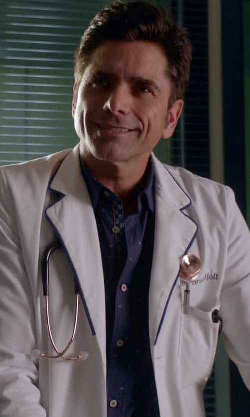 John Stamos with Ted Baker All Over Print Shirt in Scream Queens