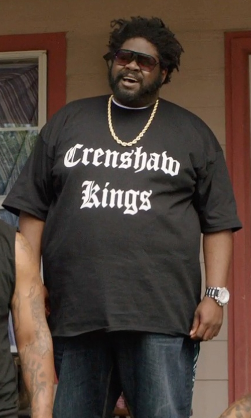 Unknown Actor with Be Wild Crenshaw Kings Thug Life T-Shirt in Get Hard