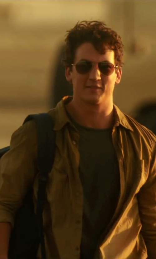Miles Teller with Mauro Grifoni Button Down Shirt in War Dogs