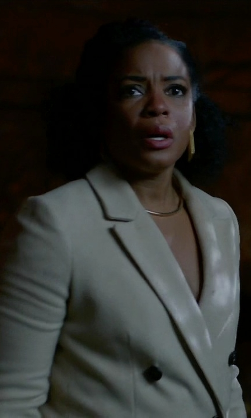 Aunjanue Ellis with Joseph Double Breasted Coat in Quantico