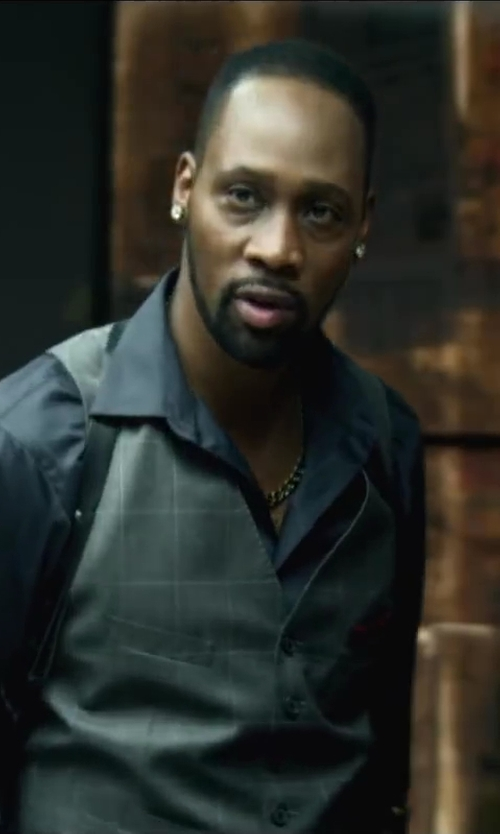 RZA with Topman PREMIUM GREY CHECKED SUIT VEST in Brick Mansions